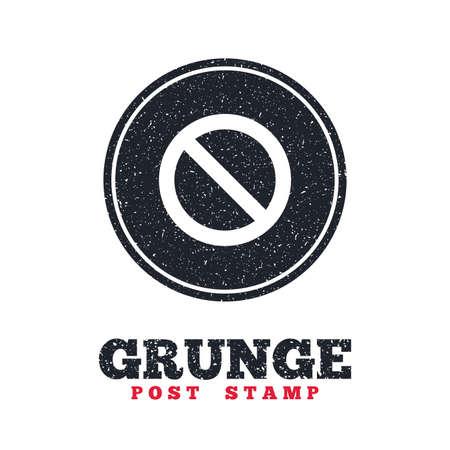 blacklist: Grunge post stamp. Circle banner or label. Blacklist sign icon. User not allowed symbol. Dirty textured web button. Vector Illustration