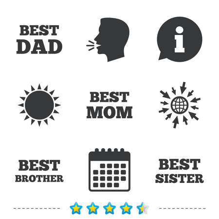 Best Mom And Dad Brother And Sister Icons Award Symbols