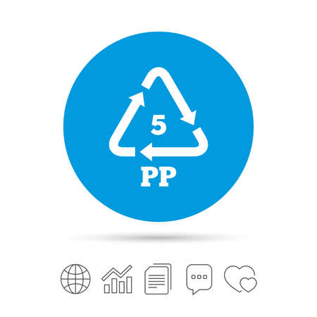 Pe Polyethylene Sign Icon Recycling Symbol Copy Files Chat