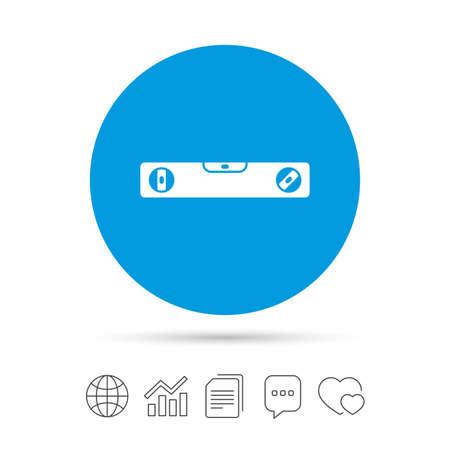 Bubble level Zeichen-Symbol. Geist Werkzeugsymbol. Kopieren von Dateien, Chat-Sprechblase und Chart-Web-Symbole. Vektor Standard-Bild - 72645212