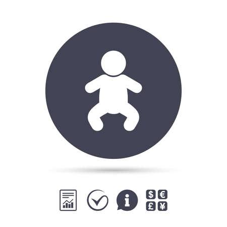Baby Kind Zeichen Symbol Kleinkindjunge Mit Windelsymbol Kinder Wc