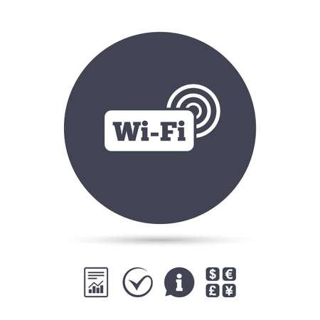 Wifi Sign. Wi-fi Symbol. Wireless Network Icon. Wifi Zone. Report ...