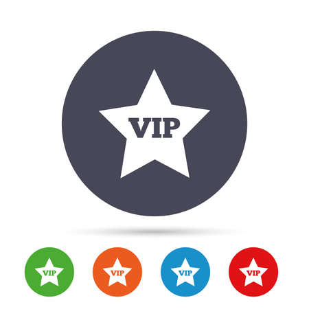 Vip sign icon. Membership symbol. Very important person. Illustration