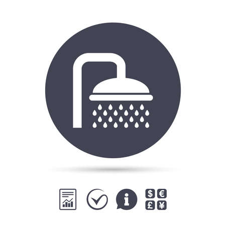 douche: Shower sign icon. Douche with water drops symbol.
