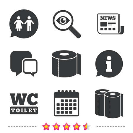 Toilet Paper Icons Gents And Ladies Room Signs Paper Towel