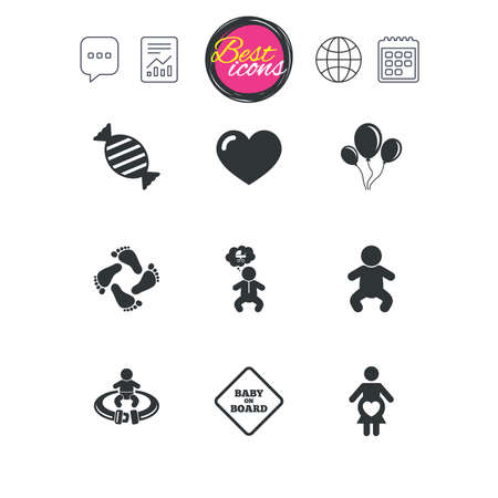 Schwangerschaft Mutterschaft Und Babypflege Symbole Candy
