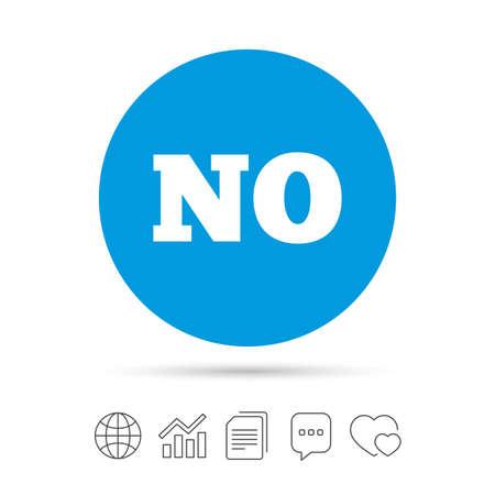 Noorse taal teken pictogram. GEEN Noorse vertaalsymbool. Kopieer bestanden, praat tekstballonnen en grafiek web iconen. Vector Stock Illustratie