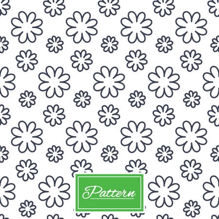 Flower floral texture. Stripped geometric seamless pattern. Modern repeating stylish texture. Abstract minimal pattern background. Vector Иллюстрация