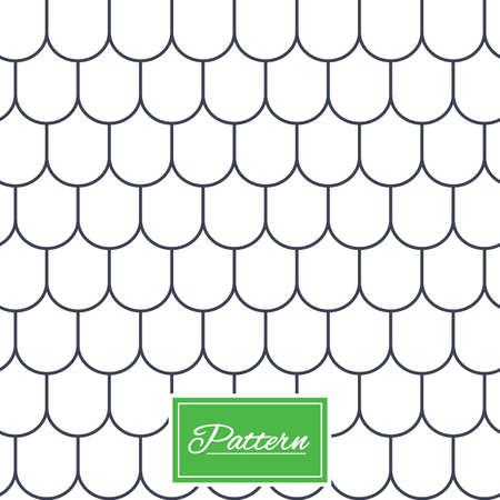 屋根タイルの線質。必要最低限の幾何学的なシームレス パターン。モダンなスタイリッシュなテクスチャを繰り返しします。最小パターン背景を抽