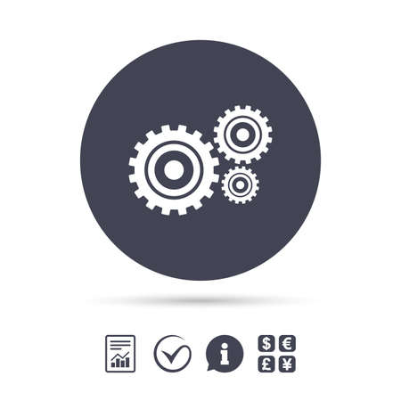 Cog settings sign icon  Cogwheel gear mechanism symbol  Report
