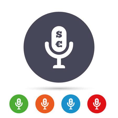 Microphone icon Illustration