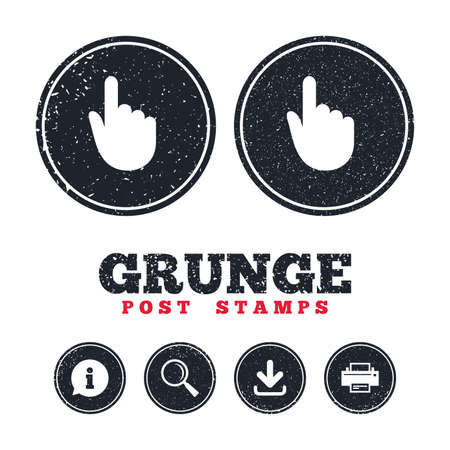 Grunge post stamps