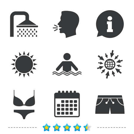 Relaxation icons Illustration