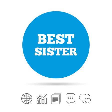 Meilleur signe de la soeur icône. symbole award . chat chat rétro et tableau web icône graphique . vecteur Banque d'images - 78274765