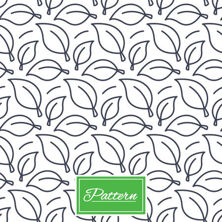 Leaves lines texture. Stripped geometric seamless pattern. Modern repeating stylish texture. Abstract minimal pattern background. Vector Иллюстрация