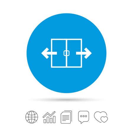 Icône de signe de porte automatique. Symbole d'ouverture automatique Copier des fichiers, bulle de dialogue et des icônes web de graphique. Vecteur Banque d'images - 80344778