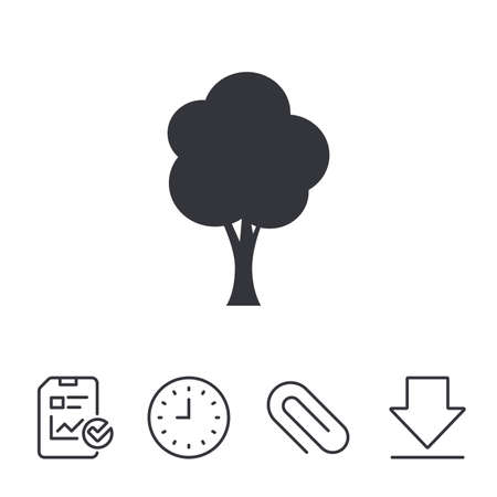 Tree sign icon, Forest symbol.