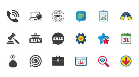 diplomat: Online shopping, e-commerce and business icons.