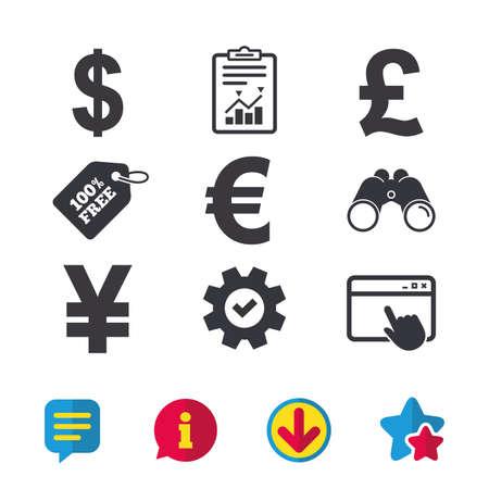 ドル、ユーロ、ポンド、円通貨のアイコン。 写真素材 - 80911274