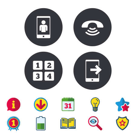 Phone Icons Smartphone With Qr Code Sign Call Center Support