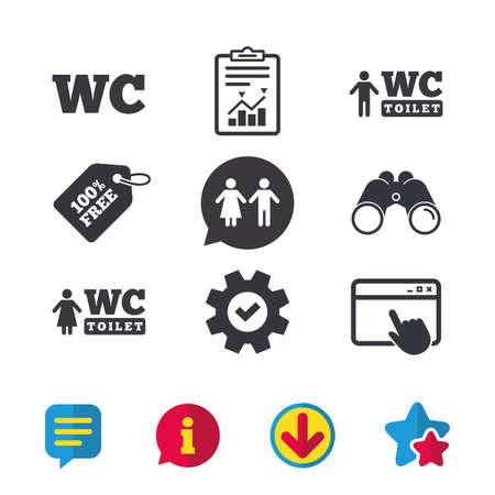 WC Toilet icons