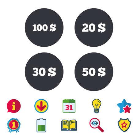 Money in Dollars icons