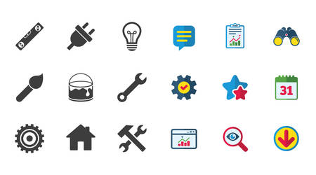 Repair, construction icons Stock Vector - 82831433