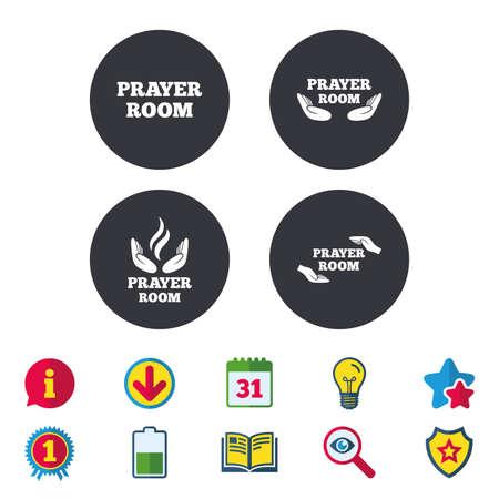 Prayer room icons Ilustração