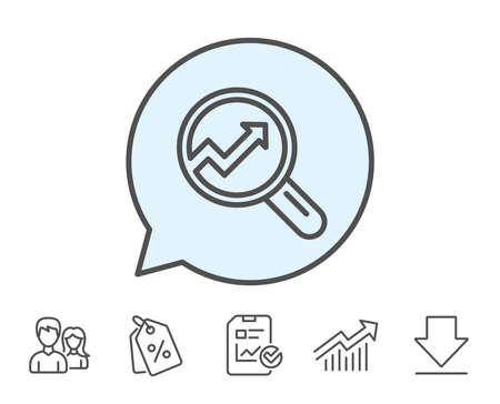 Chart line icon Illustration