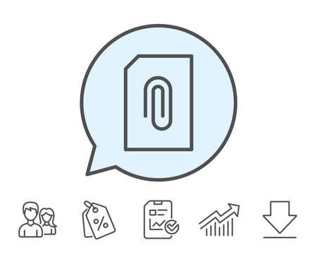 Attach Document line icon