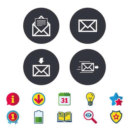 Mail envelope icons Illustration