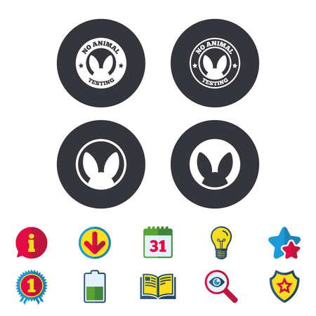 No animals testing icons Illustration
