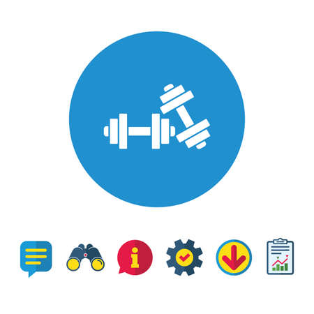 Dumbbells sign icon