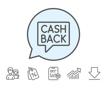 Cashback service line icon.