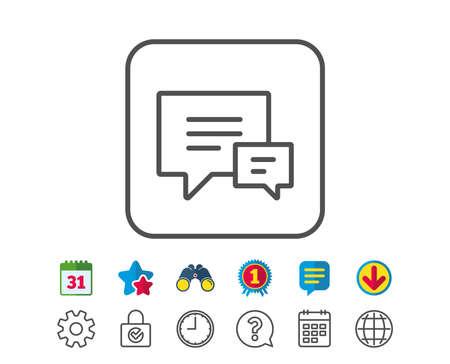 Chat line icon. Ilustração