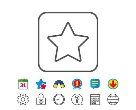 Star line icon. Best rank sign. Bookmark or Favorite symbol. Illusztráció