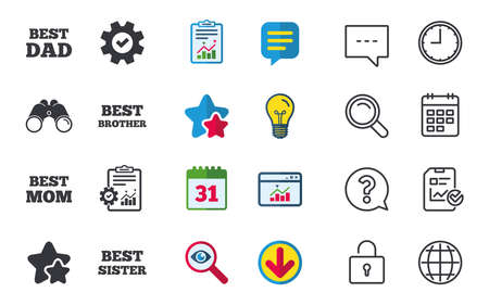 Best Mom And Dad Brother And Sister Icons Award Symbols Chat
