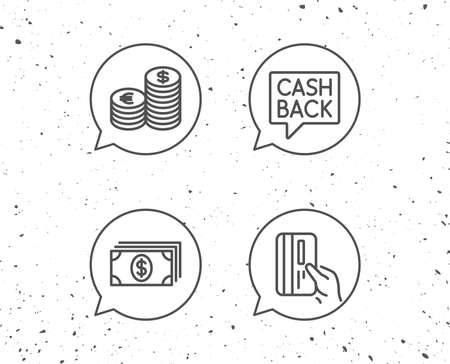 Speech bubbles with signs on white background.