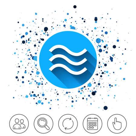 水の波の記号のアイコン。
