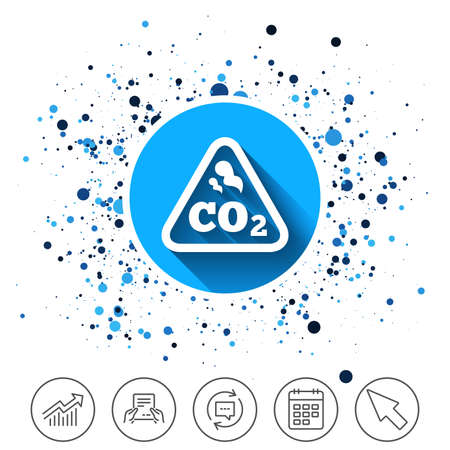 CO2 carbon dioxide formula sign icon. Çizim