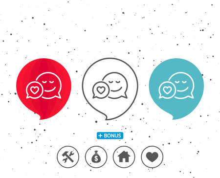Speech bubbles icon. Illustration
