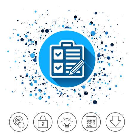Checklist pictogram. Stock Illustratie