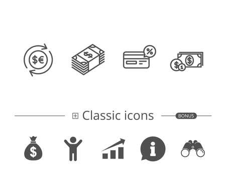 Set of classic icons. Illustration
