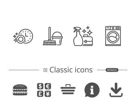 Set of classic icons. Çizim