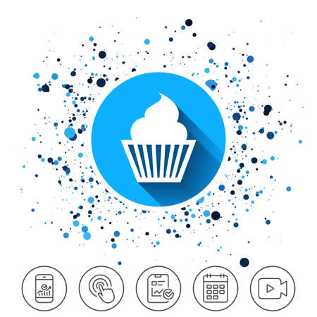 Cup cake pictogram.