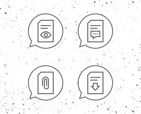 Speech bubbles paper icons.