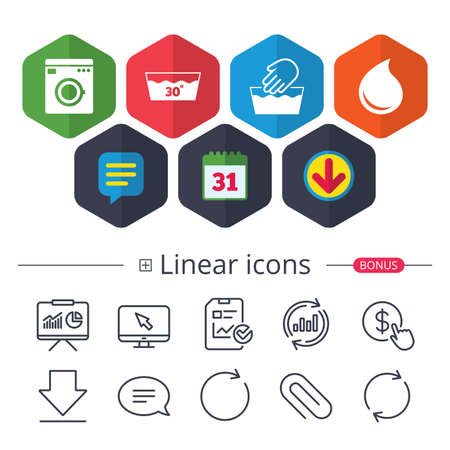 Set lineare Symbole Vektorgrafik