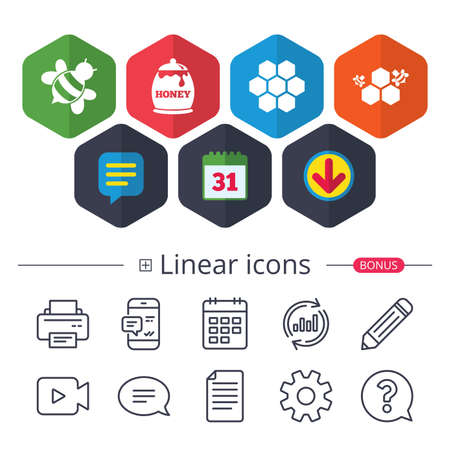 Set of linear icons.