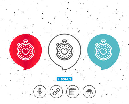 Speech bubbles with symbol. Stock Illustratie