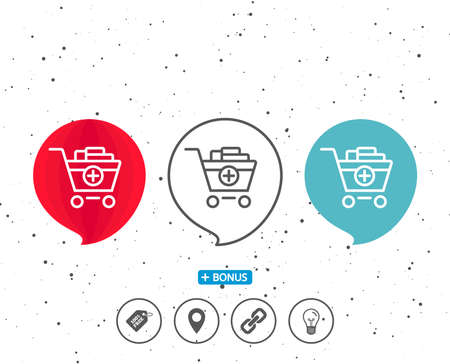 Add to Shopping cart line icon.